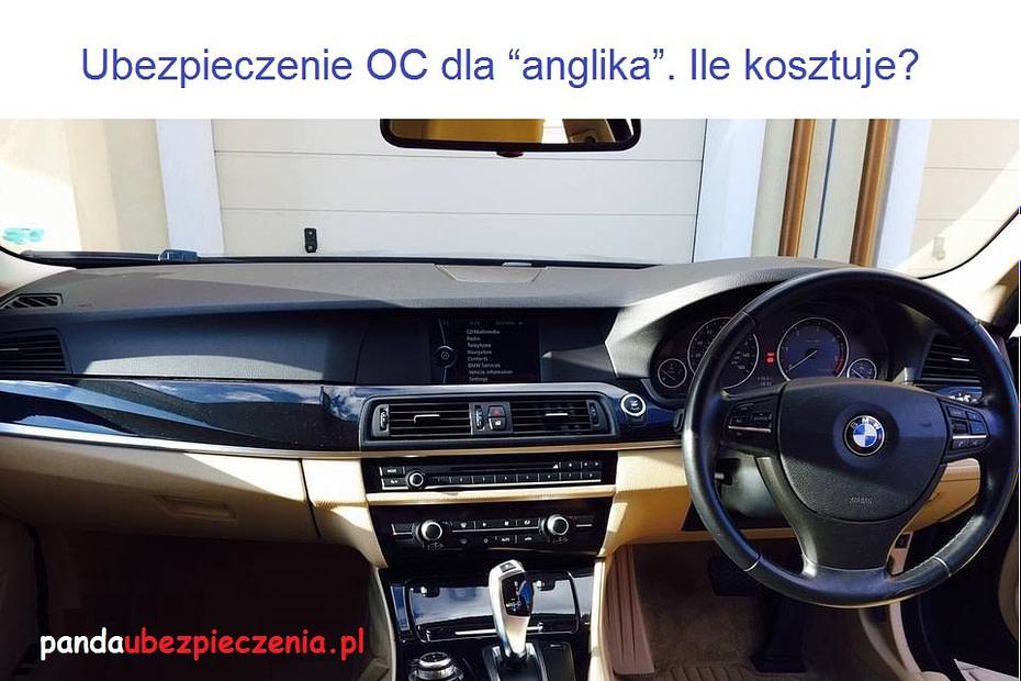 ubezpieczenie anglika oc sprowadzone auta